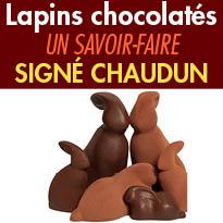 Pâques<br>Sublime collection<br>de Lapins<br>de la Maison Chaudun