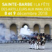 SAINTE-BARBE<br>LA FÊTE<br>DES ARTILLEURS<br>AUX INVALIDES