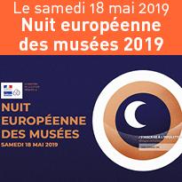 18 mai<br>Nuit européenne<br>des musées<br>2019