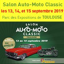 Salon Auto-Moto Classic<br>les 13, 14, et 15 septembre 2019<br>Toulouse