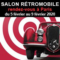 Salon Rétromobile<br>du 5 février<br>au 9 février 2020<br>à Paris