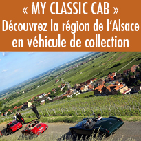 Découvrez<br>l'Alsace<br>en véhicule<br>de collection