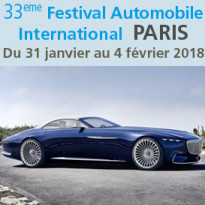 Du 31 janvier<br>au 4 février 2018<br>Festival Automobile<br>International