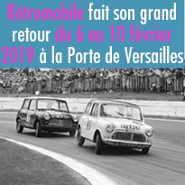 Rétromobile<br>du 6 au 10 février 2019<br>à Paris