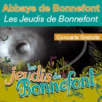 Jeudi 10 Août : Les jeudis de Bonnefont - Concerts Gratuits