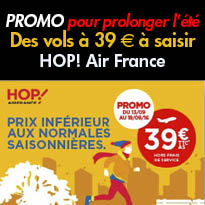 HOP! Air France<br>des vols à seulement<br>39 € à saisir !