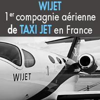 Wijet<br>1er compagnie aérienne<br>de taxi jet en France