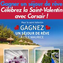 Célébrez<br>la Saint-Valentin<br>avec Corsair !