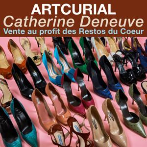 Catherine Deneuve<br>Vente au profit des Restos du Coeur