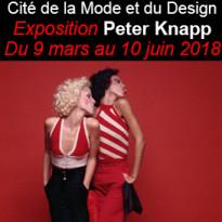 Exposition<br>Peter Knapp<br>la Cité<br>de la Mode<br>et du Design