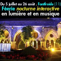 Fontfroide, la Nuit...<br>Féerie nocturne<br>un spectacle unique