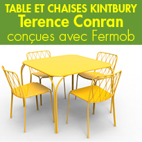 Table et Chaise<br>KINTBURY<br>de Terence Conran