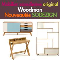 Nouveautés Sodezign<br>Woodman,<br> du mobilier scandinave original