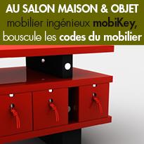 mobiKey<br>marque française<br>de mobilier créatif