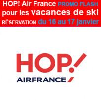 Une promo flash<br>HOP! Air France<br>pour les vacances de ski