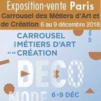 Carrousel<br>des Métiers<br>d'Art<br>et de Création<br>6 au 9 décembre 2018