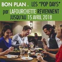 """Bon plan<br>Opération """"POP DAYS""""<br>par LaFourchette"""