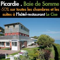 Bon Plan<br>- 50% pendant la semaine<br>en Picardie<br>l'hôtel Le Cise