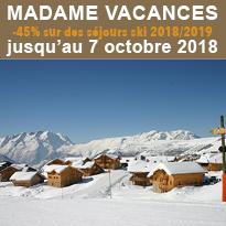 Madame Vacances<br>VENTE FLASH<br>jusqu'au 7 octobre 2018
