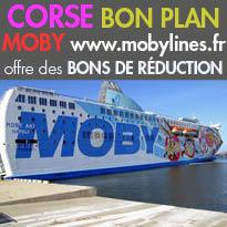 MOBY<br>fait le bonheur<br>des amoureux de la Corse