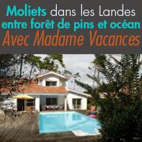 Côte aquitaine<br>Moliets dans les Landes (40)<br>un coin de paradis
