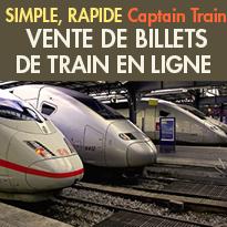 Vente<br>de billets de train<br>Rapide et efficace<br>Captain Train