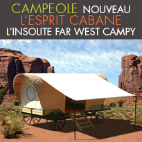 En Vendée<br>à Saint Jean de Monts<br>L'insolite Far West Campy