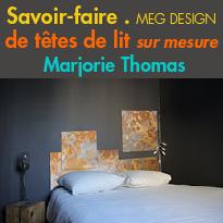 Têtes de lit<br>sur mesure<br>Meg Design