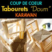 Coup de coeur<br>Tabourets en Doum<br>de chez Karawan