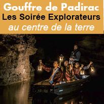 Expérience<br>insolite<br>au Gouffre<br>de Padirac