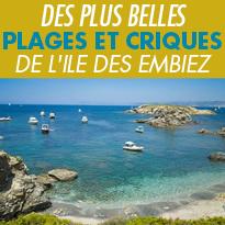 Les plus belles<br>plages de l'île<br>des Embiez
