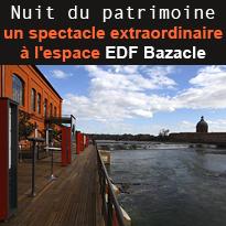 Nuit<br>d'exception<br>à l'espace<br>edf <br>Bazacle