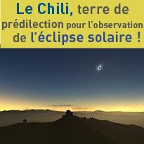 Observer<br>l'éclipse<br>solaire<br>au Chili