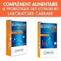 Voyager en toute sérénité<br>BIOPROTUS® Voyage<br>laboratoire Carrare