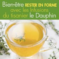 bienfaits pour l'hiver<br>infusions<br>Du tisanier Le Dauphin