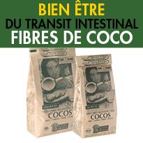un concentré <br>de fibre naturelle<br>fibres de coco<br>Bon pour le transit