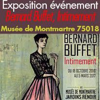 Musée de Montmartre<br>Paris 75018<br>Exposition<br>Bernard Buffet<br>Intimement