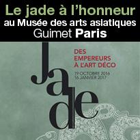 Le jade à l'honneur<br>au Musée<br>Guimet<br>Paris 75116<br>jusqu'au 16 janvier 2017