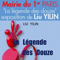 «&nbsp;La légende des douze&nbsp;»<br>du sculpteur Liu YILIN<br>Paris 1er