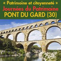 Les 17 et 18 septembre 2016<br>Week-end Patrimoine<br>au Pont du Gard (30)