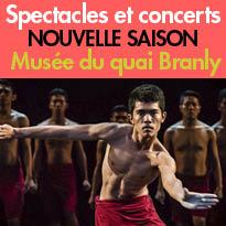 Spectacles et concerts<br>Les arts vivants<br>au Musée du Quai Branly<br>- Jacques Chirac