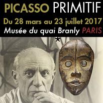 Exposition<br>PICASSO PRIMITIF<br>musée<br>du quai Branly