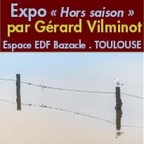Toulouse (31)<br>exposition<br>de Gérard Vilminot<br>à L'Espace EDF Bazacle