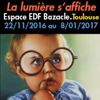 Toulouse (31)<br>exposition<br>d' affiches publicitaires<br>Espace EDF Bazacle
