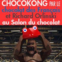 CHOCOKONG<br>par Le chocolat<br>des Français<br>et Richard Orlinski<br>au Salon du chocolat<br>Paris