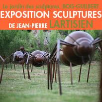Le jardin des sculptures<br>château du<br>Bois-Guilbert(76) <br>Normandie