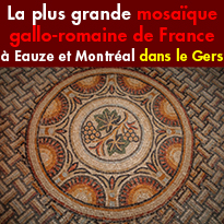 La plus grande<br>mosaïque gallo-romaine<br>de France<br>Gers (32)
