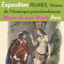 Plumes<br>Exposition<br>musée du quai Branly<br>Jacques Chirac