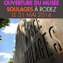 Le 31 mai 2014<br>Ouverture du musée<br>Soulages<br> à Rodez
