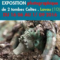Près de Troyes(21)<br>Exposition<br>photographique<br>de 2 tombes Celtes